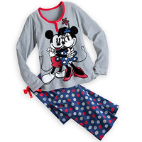 Mickey and Minnie Mouse Pajama Set for Women - Holiday