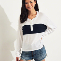 Girls Boyfriend Henley T-Shirt | Girls Tops | HollisterCo.com