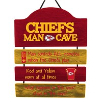 Kansas City Chiefs Sign Wood Man Cave Design