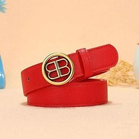 Balenciaga Popular Woman Men Fashion Smooth Buckle Leather Belt