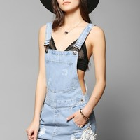 Pins And Needles Lace-Trim Overall Short - Urban Outfitters