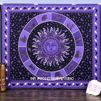 Astrology Tapestry wall Hanging, Sun Moon Tapestries, Hippie Tapestries, Bohemian Wall Tapestries, Boho Tapestry Throw, Dorm Bed Spread