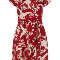Red and ivory oriental dress - Dresses  - Clothing