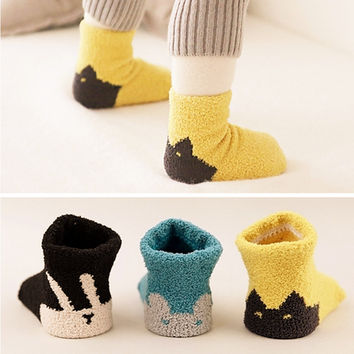 Thicken Children Infant Socks 3 Pair Set [9006388422]