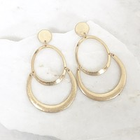 Tyra Gold Chandelier Earrings