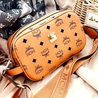 MCM classic printed logo female chest bag pocket bag shoulder bag Messenger bag