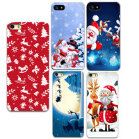 For iPhone 5 5S Happy Christmas Case Santa Claus Painted Soft TPU Mobile Phone Back Cases Cover For iphone 5 5S  6 6s 7 7 plus