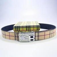 BURBERRY Men Woman Fashion Smooth Buckle Belt Leather Belt