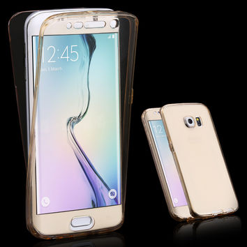 Clear Soft TPU Transparent Case Hybrid Cover For Samsung Galaxy
