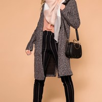 Unstoppable Charcoal Blazer Overcoat
