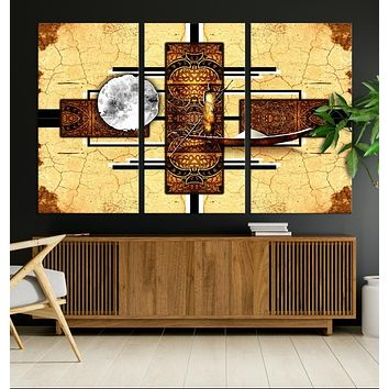 Modern African Style Abstract Large Wall Art Canvas Print