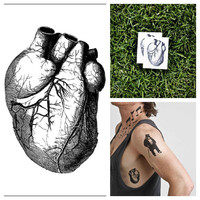 Heart  temporary tattoo Set of 2 by Tattify on Etsy
