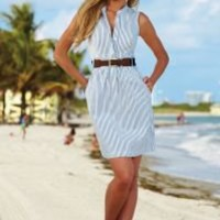 Belted shirtdress in the VENUS Line of Dresses for Women