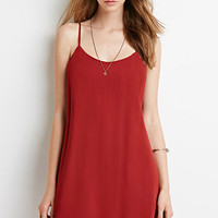 Crinkled Chiffon Cami Dress