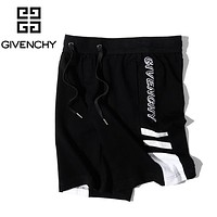 Givenchy New fashion embroidery letter couple shorts Black