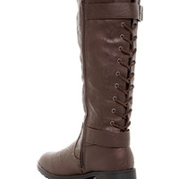 Back Lace-Up Boot