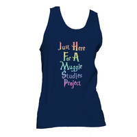 Just Here for a Muggle Studies Project Unisex Tank Top, Harry Potter Tank