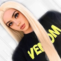 Ombre #613 Blonde Wig 13*4 Lace Front Human Hair Wigs Brazilian Remy Straight Hair Transparent Lace Pure Blonde Wig