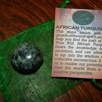Genuine AFRICAN TURQUOISE - Genuine Tumbled African Turquoise - @1 Inch Gemstones - Evolution of the Spirit, Ancestor Wisdom, Find Your Path