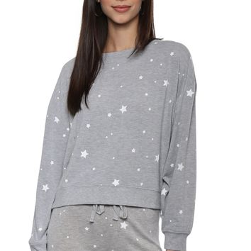 Z Supply The Lux Star Print Pullover