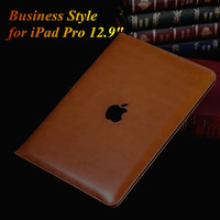 """Business Style Luxury Flip PU Leather Case for iPad Pro Fashion Slim Thin Smart Book Cover Tablet Stand Case for iPad Pro 12.9"""""""