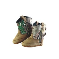 Old West Infant Poppets - Camo Booties