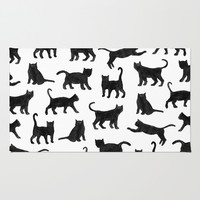 Le petits chats Area & Throw Rug by Marcelo Romero