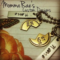 Pair of best friend custom necklaces from MommaRae's Custom Designs