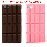 For APPLE iPhone 4 4S 4G 5 5C 5S 5G 6 6G 6S Plus 2016 Ultra thin 3D Chocolate Silicone Case Cover Back Cover cell phone cases