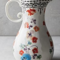 Isidre Pitcher by Anthropologie in Multi Size: Pitcher Serveware