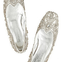 Alexander McQueen Crystal-embellished leather slippers – 70% at THE OUTNET.COM
