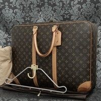 Rise-on LOUIS VUITTON MONOGRAM Sirius 24 Heures Soft Suitcase Travel Bag #6