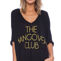 Wildfox Couture Hangover Club Tee in Black
