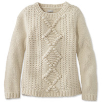 Women's Signature Chunky Wool Blend Sweater | Free Shipping at L.L.Bean