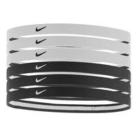Nike 6-pk. Logo Sport Stretch Headbands (Black)