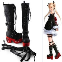 Lolita Gothic Punk Cosplay Thick Platform Boots CP153948