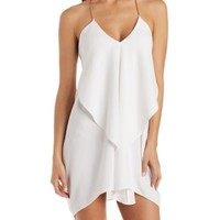 Ivory Chain Strap Cascade Shift Dress by Charlotte Russe