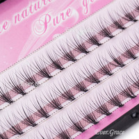 6 8 10 12 14mm Natural Maekup Individual Eyelash Extension Grafting 60pcs Fake False Eyelashes Cluster