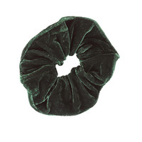 Velvet Goldmine Scrunchie - Hunter Green