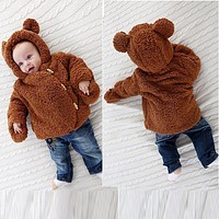 ARLONEET Baby Coat Winter Warm Cloak Jacket Thick Warm Clothes Children Infant Clothing Hoodies Outerwear BFOF