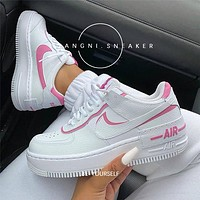 Nike Air Force 1 New Women's Colorblock Low-Top Casual Sneakers