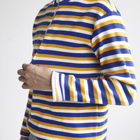 Stripes High Neck Knitted Sweater