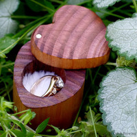 Engagement Ring Box Heart Shaped Ring Box by coldcreekbrewing