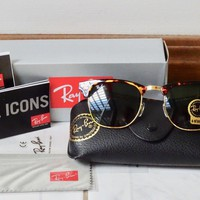 Tagre™ Cheap New RAYBAN RAY-BAN RB 3016 CLUBMASTER W3066 Tortoise Frame Sunglasses Size 51