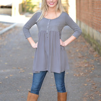 Hopeless Romance Babydoll Tunic Top