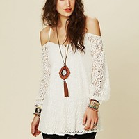 Free People French Bowie Lace Tunic