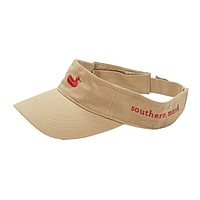 Visor in Khaki with Red Duck by Southern Marsh