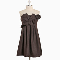 havana brown strapless dress - $89.99 : ShopRuche.com, Vintage Inspired Clothing, Affordable Clothes, Eco friendly Fashion
