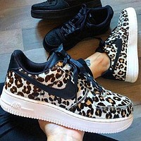 Nike Air Force 1 Nike Air Force One wild full leopard print low-top sneakers leopard