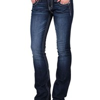 Miss Me Women's Pearl and Sequins Boot Cut Jeans